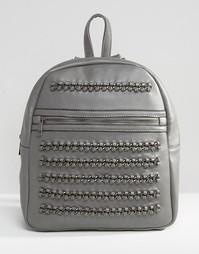 Рюкзак с цепочками Yoki Fashion - Серый