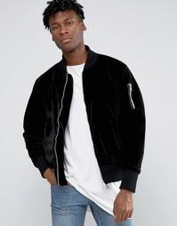 Бархатная куртка-пилот Other UK - Черный
