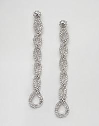 Броские серьги-подвески с камнями DesignB - Серебряный