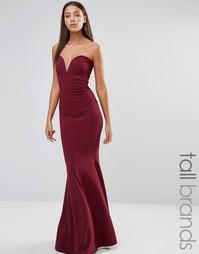 Платье макси с юбкой-годе Missguided Tall - Красный