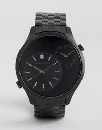 Черные наручные часы с двумя циферблатами Armani Exchange AX2161 - Черный