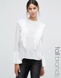 Блузка с пышными рукавами‑колоколами и оборками Vero Moda Tall - Белый