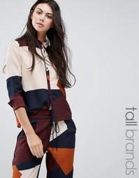 Рубашка в стиле колор блок Vero Moda Tall - Мульти