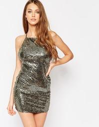 Платье-сорочка с пайетками Wyldr Midnight - Золотой