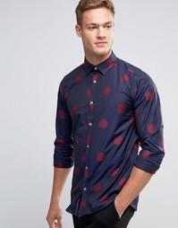 Рубашка классического кроя с цветочным узором Ted Baker - Темно-синий