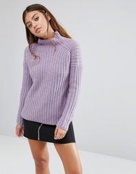 Вязаный джемпер с высоким воротом Fashion Union - Фиолетовый
