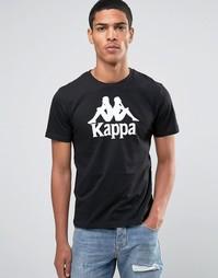 Футболка с крупным логотипом Kappa - Черный