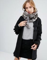 Меховой шарф-снуд Alice Hannah Sporty - Коричневый