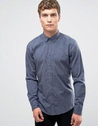 Рубашка узкого кроя на пуговицах Boss Orange Edipoe - Темно-синий
