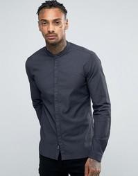 Черная рубашка без воротника с мелким принтом Replay - Черный