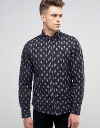 Рубашка узкого кроя Blend Brush Stroke - Темно-синий