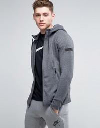 Черное худи на молнии Nike Jordan Icon 809470-010 - Черный