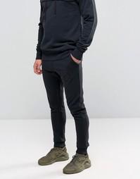 Зауженные спортивные штаны SikSilk - Черный