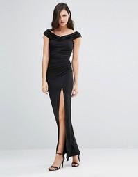 Платье макси с открытыми плечами Jessica Wright Sarah - Черный