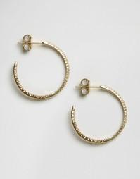 Серьги-кольца с кристаллами Orelia - Золотой