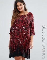 Платье размера плюс Juna Rose Fluva - Красный Junarose