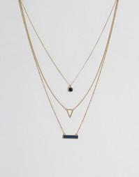 Ярусное ожерелье Ashiana - Золотой