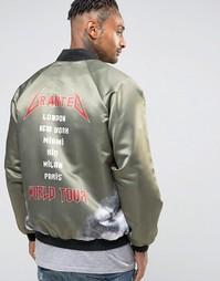 Куртка-пилот Granted Tour Souvenir - Зеленый
