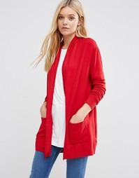 Красный удлиненный кардиган Lavand Classic - Красный