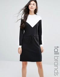 Платье-свитшот в стиле колор блок Daisy Street - Черный