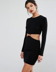 Платье с вырезами и длинными рукавами Bec & Bridge Montana - Черный