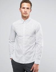 Рубашка слим с длинными рукавами и цветочным принтом Celio - Белый