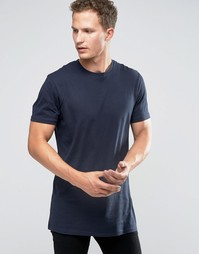 Удлиненная футболка Celio - Темно-синий