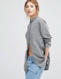 Рубашка слим с длинными рукавами Waven Nott 3.0 - Серый