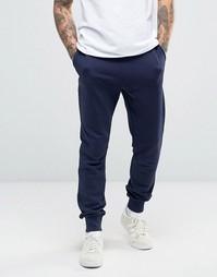 Темно-синие трикотажные штаны узкого кроя с логотипом Lyle & Scott - Темно-синий