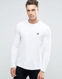 Белый лонгслив с логотипом Lyle & Scott - Белый