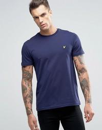 Темно-синяя футболка с логотипом Lyle & Scott - Темно-синий