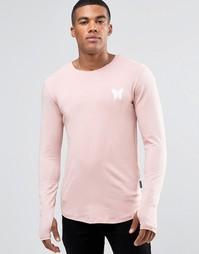 Лонгслив с небольшим логотипом Good For Nothing - Розовый