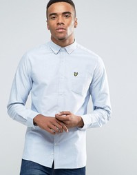Оксфордская рубашка классического кроя Lyle & Scott - Синий
