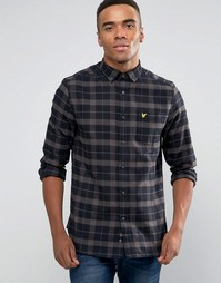 Черная фланелевая рубашка классического кроя в клетку Lyle & Scott - Черный