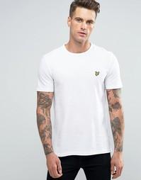 Белая футболка из пике с логотипом Lyle & Scott - Белый