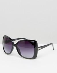 Солнцезащитные очки в широкой квадратной оправе 7X - Черный