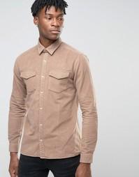 Рубашка навыпуск узкого кроя Jack & Jones Premium - Бежевый