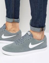 Серые кроссовки Nike SB Solar 843895-005 - Серый