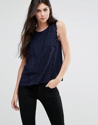 Блузка с бахромой Greylin Gianna - Темно-синий