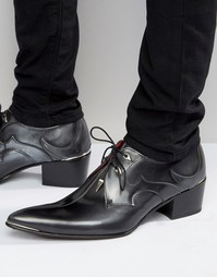 Кожаные туфли на каблуке Jeffery West Sylvian - Серебряный