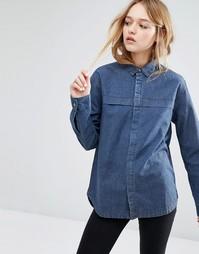 Джинсовая рубашка Rollas - Синий Rollas