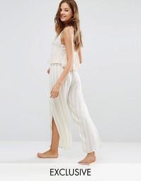 Пляжные брюки в полоску с разрезами Akasa - Мульти