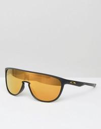 Солнцезащитные очки-маска с зеркальными стеклами Oakley - Черный