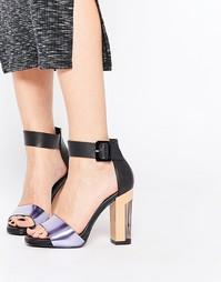 Кожаные босоножки на каблуке Miista - Черный