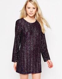 Цельнокройное платье с пайетками и открытой спинкой Jovonna Patrice - Мульти