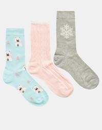 Комплект из 3 пар носков Totes Polar Bear - Мульти