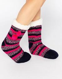 Носки в полоску из полихроматического трикотажа Totes - Розовый