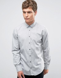 Рубашка узкого кроя на пуговицах Boss Orange Edipoe - Серый