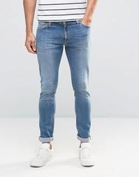 Супероблегающие джинсы цвета индиго Nudie Skinny Lin - Синий