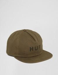Бейсболка в стиле милитари HUF - Зеленый